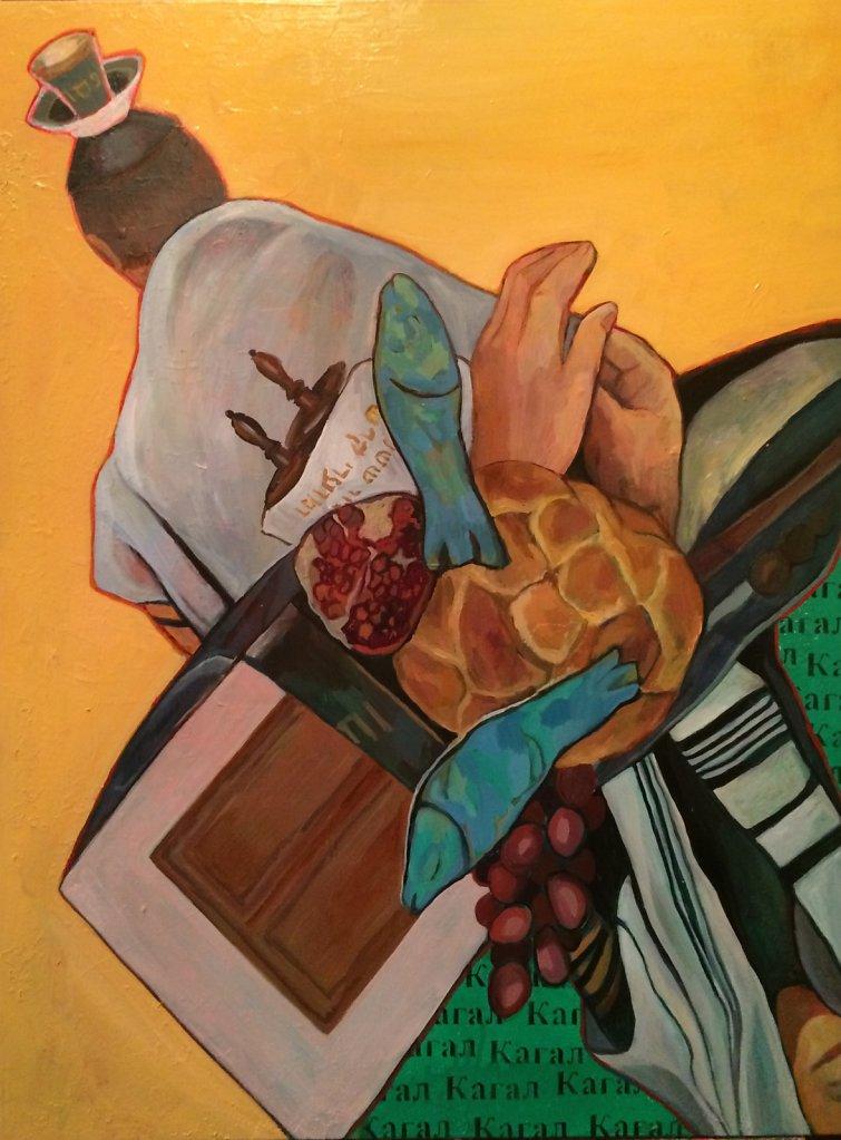 Kagal, oil on canvas, 80 x 60 cm, 2014