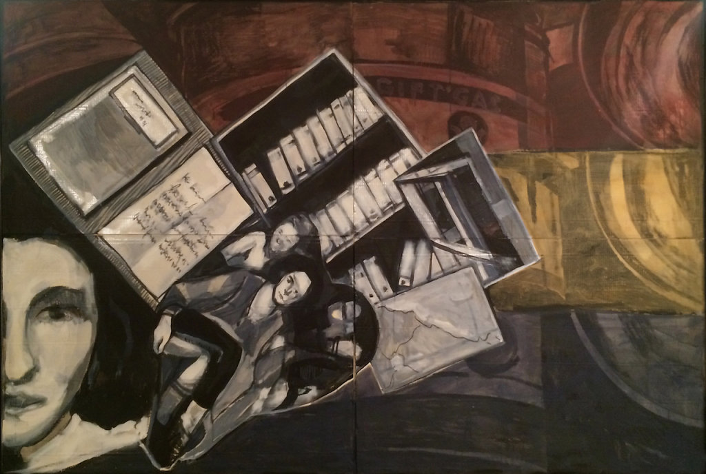 Diary, oil on cardboard, 148 x 217 cm, 2015