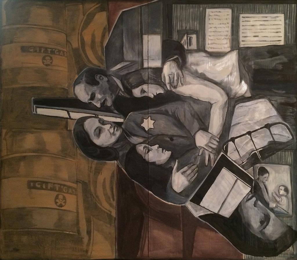 Family, oil on cardboard, 148 x 165 cm, 2015